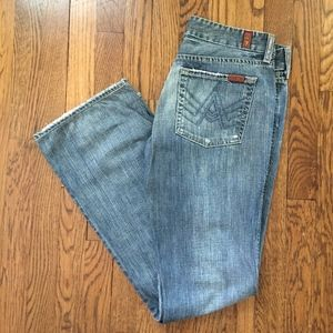 "7 for All Mankind ""A"" pocket bootcut size 29"